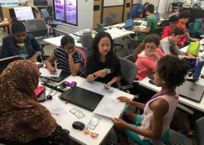 Middle School students at the NYU Tandon Makerspace